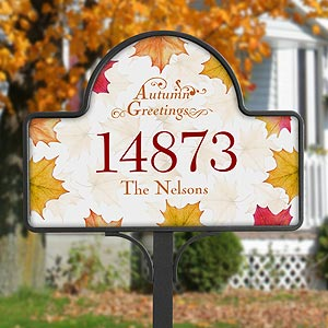 Fall Leaves Personalized Autumn Yard Stake - 5914