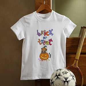 Personalization Mall Personalized Trick or Treat Halloween T-Shirt for Kids at Sears.com