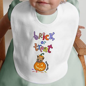 Personalization Mall Trick or Treat Personalized Halloween Baby Bib at Sears.com
