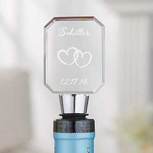 Custom Engraved Wine Bottle Stoppers for Weddings - A Toast to Love - 5957