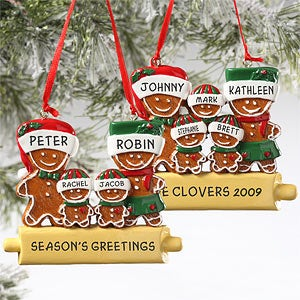 personalized gingerbread family christmas ornament 5984