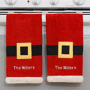 Personalization Mall Santa Personalized Christmas Kitchen Towel Set at Sears.com