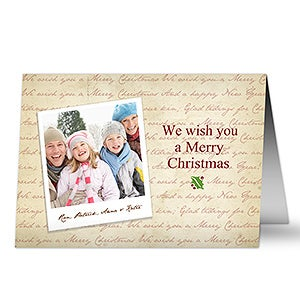 Merry Christmas Personalized Photo Christmas Cards - 6035