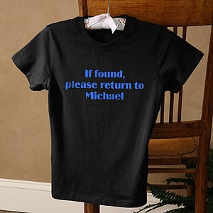 Personalization Mall Personalized Ladies Black Fitted T-Shirt - Choose Custom Printed Text at Sears.com