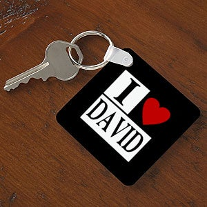 I LOVE -- Personalized Keychain
