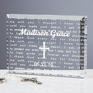 Walk With Jesus Personalized Baptism Gift Keepsake  - 6115