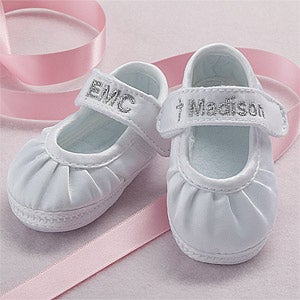 Personalized Christening Shoes for Girls - 6121