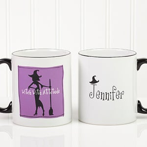 Halloween Witch Personalized Coffee Mug - 6123