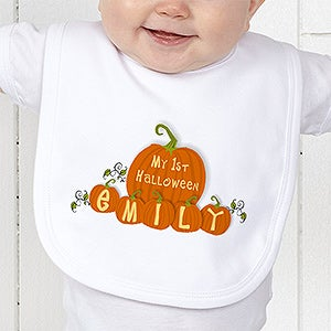 Personalization Mall Personalized Baby's First Halloween Pumpkin Bib at Sears.com