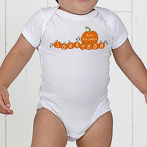 My First Halloween Personalized Pumpkin Baby Clothes - 6135
