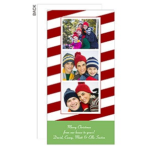 Candy Cane Personalized Photo Postcard Christmas Cards - 6189