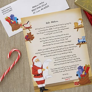 Personalized Letter from Santa Claus - Santa's Workshop - 6232