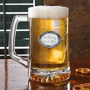 Engraved Medallion Personalized Beer Stein - 6277