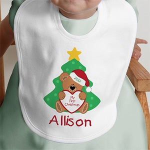 Personalization Mall Personalized My First Christmas Baby Bib at Sears.com