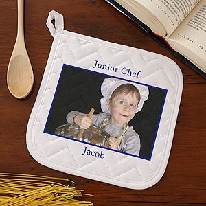 Kids Personalized Photo Apron and Potholder Set - 6282