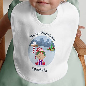 Personalization Mall My First Christmas Personalized Character Baby Bib at Sears.com