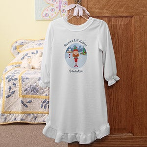 Personalization Mall Santa's Little Helper Girls Personalized Christmas Nightgown at Sears.com