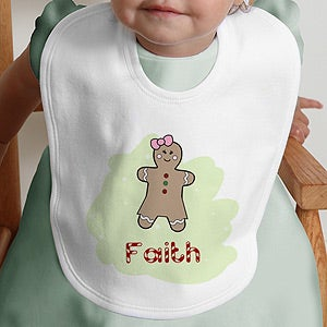 Personalization Mall Personalized Gingerbread Man Christmas Baby Bib at Sears.com
