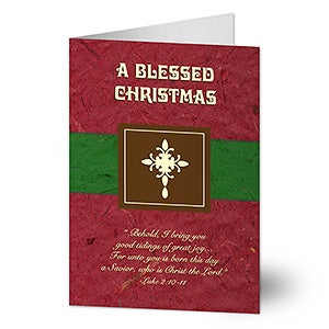 Blessed Christmas Personalized Religious Christmas Cards - 6295