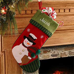 Personalization Mall Personalized Snowman Christmas Stocking at Sears.com