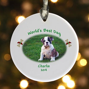 Personalized Pet Photo Christmas Ornament - Cats & Dogs - 6346