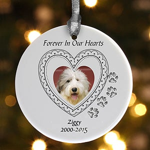 Personalized Pet Memorial Christmas Ornament - 6348