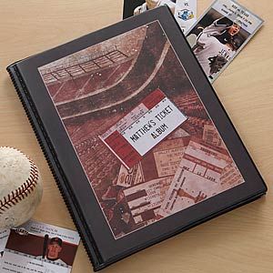 Personalized Sports Ticket Stub Scrapbook Album - 6361