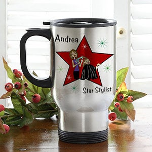 Personalization Mall Personalized Hair Stylist Stainless Steel Travel Coffee Mug at Sears.com