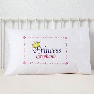 Personalized Kids Pillowcase - Junior Royalty Design - 6400