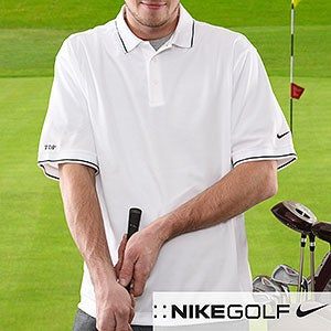 Nike Dri-FIT Embroidered Monogram Golf Polo Shirt - 6412