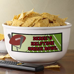Personalized Football Game Snack Bowls - 6418
