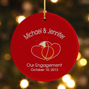 Romantic Personalized Christmas Ornament - United In Love - 6420