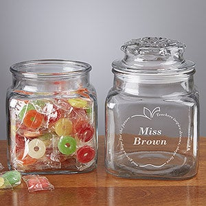 Personalized Teacher Candy Jar with Chocolates