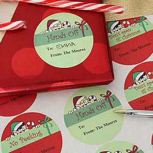 Personalized Christmas Gift Tag Stickers - Don't Open Until Christmas