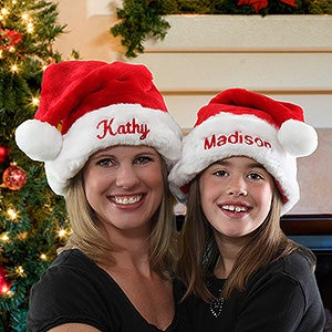 Plush Personalized Santa Claus Hat - 6462