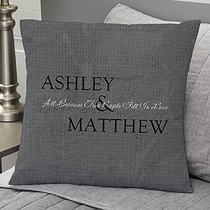 Romantic Couples Personalized Pillows - Kiss Goodnight - 6468