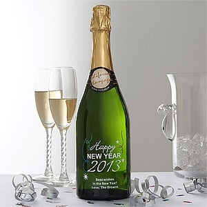 New Year's Eve Personalized Champagne Bottle - 6485D