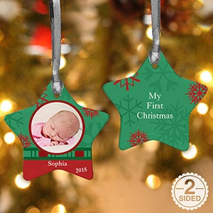 Star Photo Personalized Christmas Ornaments - 6487