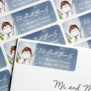 Snowman Personalized Return Address Labels - 6502