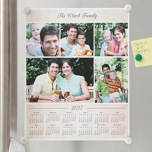 Photo Collage Personalized Calendar Poster - 6503