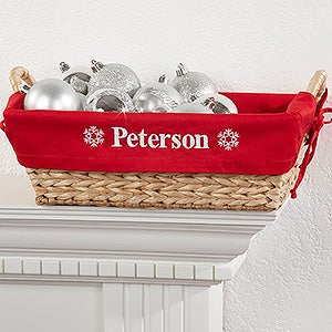 Personalization Mall Personalized Holiday Wicker Basket - Red at Sears.com