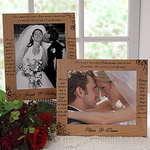 Love Is Patient 8x10 Personalized Wedding Picture Frame - 6517