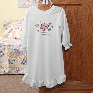 Personalization Mall Personalized Candy Hearts Girl's Valentine's Day Nightgown at Sears.com