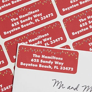 Christmas Lights Personalized Return Address Labels - 6531