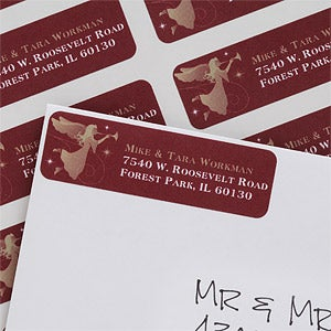 Personalized Christmas Angel Return Address Labels - 6534