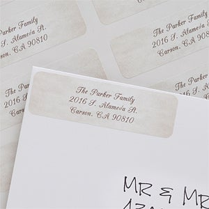 Personalized Watercolor Greetings Return Address Labels - 6536