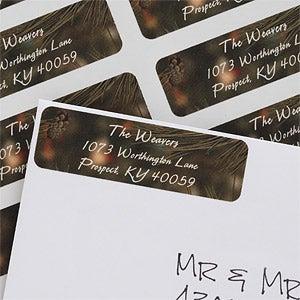 Evergreen Tree Personalized Return Address Labels - 6539