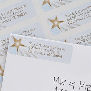 Personalized Christmas Star Return Address Labels - 6540