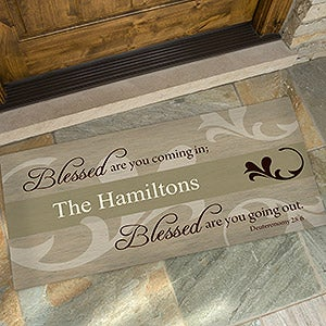 You Are Blessed Personalized Religious Doormat - 6546