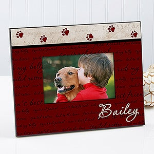 Man's Best Friend Personalized Dog Picture Frame - 6551